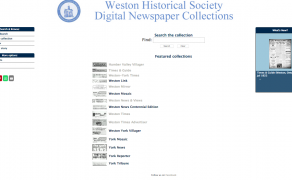 Weston Historical Society Digital Newspaper Collection