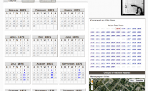 Calendar view browsing