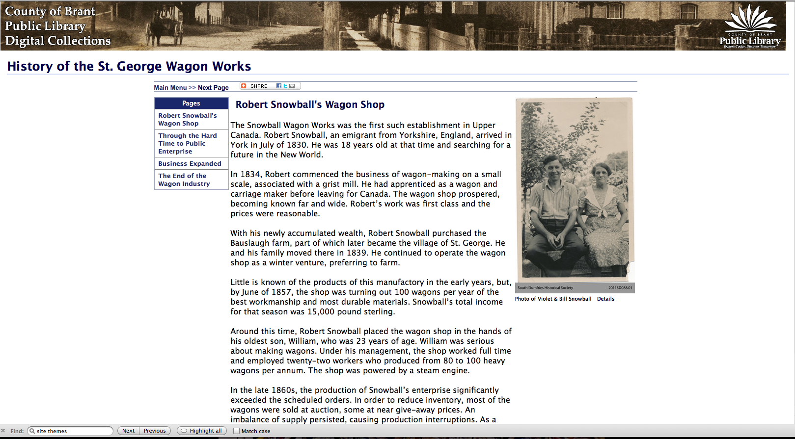 History of the St. George wagon works screenshot