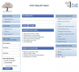 VITA Help Site