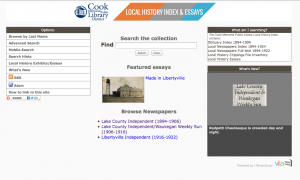 Cook Memorial Local History & Newspaper Index